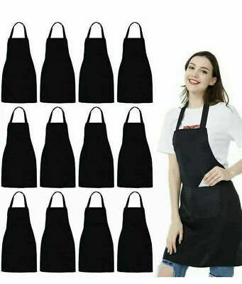 £2.49 • Buy Black Apron Cooking BBQ Craft Baking Chef Polyester Catering Butcher Kitchen