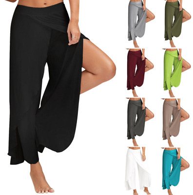£12.58 • Buy Indian Style Harem Loose Cropped Trousers Bohemian Sports Fitness Yoga Pants UK
