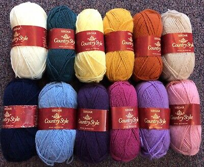 £9.75 • Buy 5 X 50g Sirdar Country Style Double Knit Wool/Yarn For Knitting/Crochet
