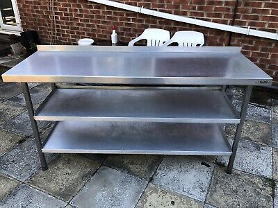 £240 • Buy Commercial Kitchen Stainless Steel Table 3 Shelf Large !!