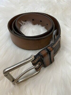 $20 • Buy Fossil  Two  Tone  Brown  Leather  Belt 85/34
