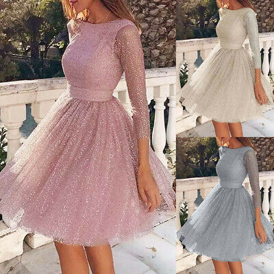 AU25.70 • Buy Women Long Ball Gown Party Cocktail Wedding Bridesmaid Formal Evening Dress