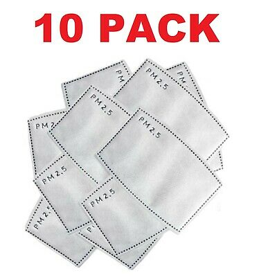 $ CDN2.46 • Buy 10 Pack PM2.5 Filter For Face Mask Activated Carbon Replacement Filter