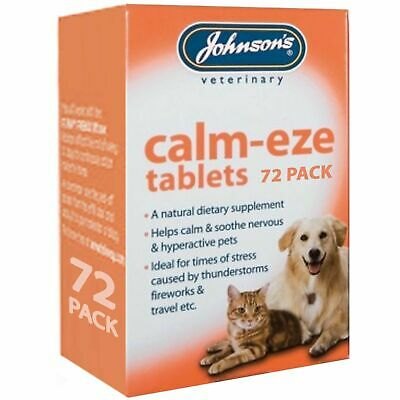 £7.98 • Buy Johnson's Calm-eze Tablets 72 Pack Helps Calm & Soothe Dogs, Cats Veterinary