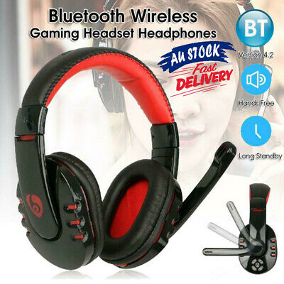 AU32.29 • Buy AU Bluetooth Wireless Gaming Headset Headphone Earphone For PC With Mic Stock QC
