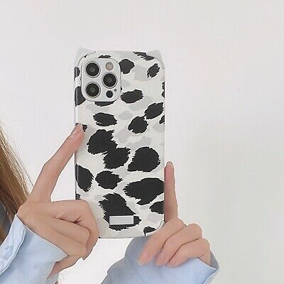 £3.99 • Buy Cat Ear Cow Print Soft TPU Phone Case Cover For IPhone 7 8 X/Xs 11 12 Pro Max XR