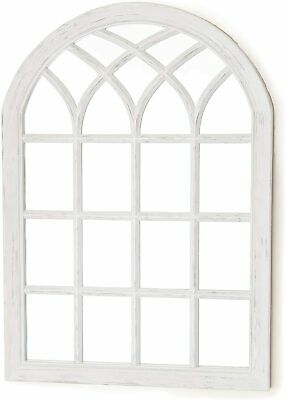 £48.99 • Buy Gothic Arch Garden White Mirror Panel Rustic Wall Mounted Outdoor Indoor New