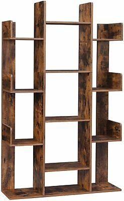£71.99 • Buy Rustic Tall Bookcase Vintage Industrial Style Display Cabinet Shelf Room Divider