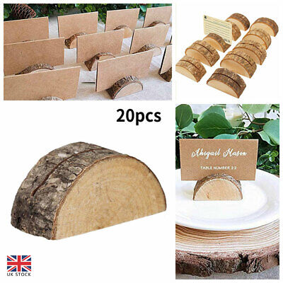 £14.21 • Buy 20Pcs Wooden Table Card Holder Stand Number Place Name Menu Party Wedding Decors