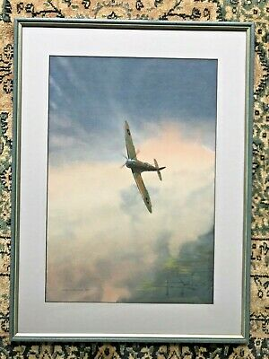 £300 • Buy Peter Allingham Henville 1925 - 2000 Watercolour Painting Spitfire RAF Aircraft