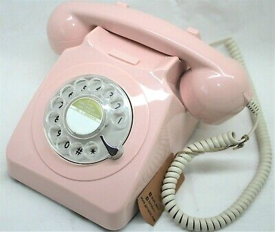 £25.99 • Buy GPO 746 Retro 1960s Style Rotary Dial Telephone In Pink