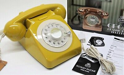 £25.99 • Buy GPO 746 Retro 1960s Style Rotary Dial Telephone In Mustard