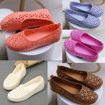 £6.99 • Buy Summer Women's Casual Shoes Jelly Hollow Out Flat Heel Sandals Flip Flops Size