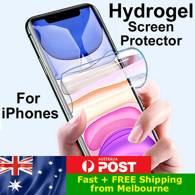 AU2.95 • Buy HYDROGEL Screen Protector For IPhone 6s Plus 7 8 X XS XR 11 12 Pro Max Mini