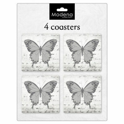 £3.45 • Buy Pack Of 4 Coasters In Butterfly Design