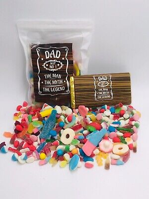 £4.99 • Buy Pick N Mix Sweets Father's Day Box Hamper Sweet  Mixed Retro Dad Gift Galaxy Bar