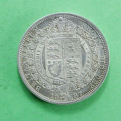 £69.95 • Buy 1887 Queen Victoria Silver Half-Crown Lovely Example Super Detail SNo61092