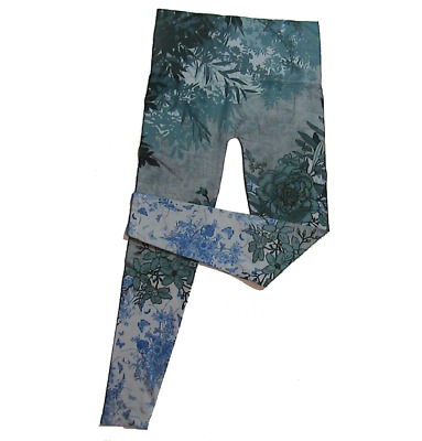 $38 • Buy M. Rena Floral Printed  Seamless Tummy Tuck Leggings. One Size