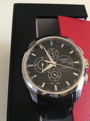 AU950 • Buy TISSOT COUTURIER  CHRONOGRAPH  AUTOMATIC BLACK LEATHER WATCH (Unwanted Gift) AU