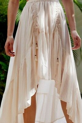 AU160 • Buy SPELL & The Gypsy Seashell Organic Cotton Ruched Skirt Sz L