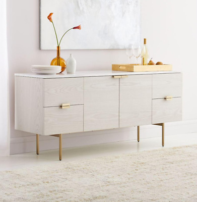 £949 • Buy John Lewis Delphine Large Marble Buffet / Sideboard, Feather Grey - RRP: £1,499