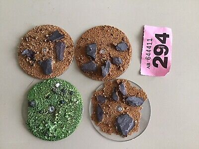 £7.70 • Buy Warhammer 40k/ Fantasy Flying Bases Large Textured X4 Clear Plastic