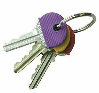 £1.59 • Buy ALL QTY Rubber Key Cap Coloured Covers Plastic Top Cap Cover Tag Door Identifier