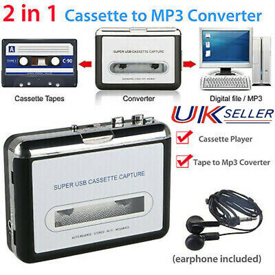 £15.28 • Buy USB Tape To PC Cassette To MP3 Converter Captue Adapter Audio Music Player UK