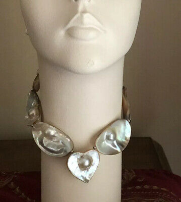 $160 • Buy Mabe Blister Pearl Necklace Choker Heart
