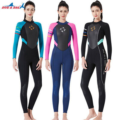 £42.97 • Buy Sale~ Hot Womens 3mm Back Zipper Full Body One-piece Wetsuits Diving Wet Suit