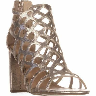 $ CDN40.18 • Buy Material Girl Women's Cadence Open Toe Casual Ankle Strap Heel Sandals (Gold, 8)