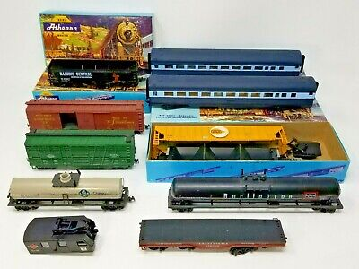 $ CDN70.04 • Buy Lot Of 10 HO Scale Athearn(?) Trains & 5 Boxes - AS-IS Condition