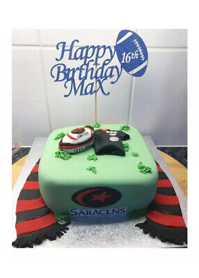 £3.50 • Buy Personalised Rugby Cake Topper Decoration Party
