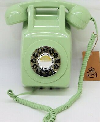 £24.99 • Buy GPO 746 1960s Style Wall Mount Push Button Telephone In Green