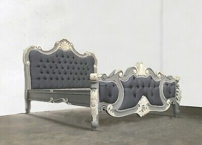£599 • Buy Rococo Kingsize Palais Bed French Grey Hand Made Brand New Shabby Chic