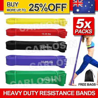 AU36.95 • Buy Heavy Duty Resistance Yoga Bands Loop Exercise Fitness Workout Band Gym