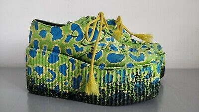 £69.99 • Buy Underground Creepers Party Festival Platform Shoes With Custom Paint Work Size 6