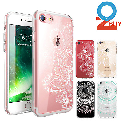 AU5.95 • Buy For IPhone XS MAX XR 8 7 Plus Shockproof Clear Case Mandala Paisley Flower Cover