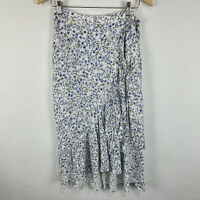 AU22.95 • Buy Forever New Womens Maxi Skirt 6 Multicoloured Floral Zip Closure Boho