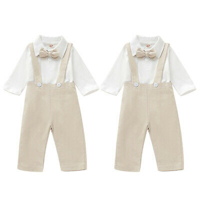 £12.91 • Buy Toddler Infant Baby Boys Gentleman Bow Tie Shirt Long Trousers Party Outfits Set
