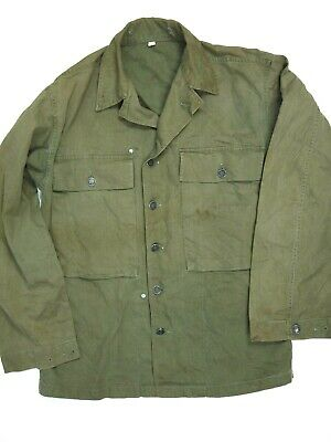 $94.99 • Buy Vintage 40s M43 HBT Jacket/Shirt Military Army WWII WW2 OD 36R 13 Star Buttons