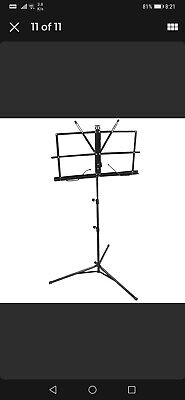 £6.89 • Buy Music Orchestral Stand Sheet Holder Adjustable Foldable Tripod Base With Bag