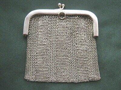 £49.99 • Buy Antique Silver Sovereign Coin Chain Mesh Chatelaine Purse A. Brs 925