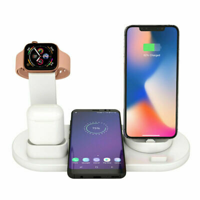 AU28.49 • Buy 4in1 Wireless Charging Station Dock Charger Stand For AirPods Apple Watch IPhone