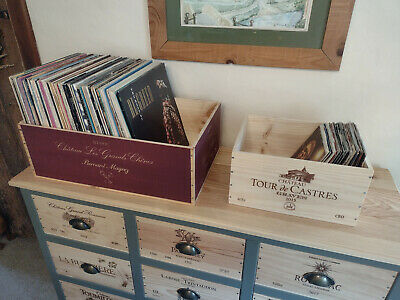 £19.95 • Buy Vinyl Record LP Storage Box. 7  Or 12 . Wooden Wine Box. French. (BOX ONLY)