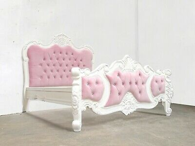 £599 • Buy Rococo Kingsize Palais Bed White Hand Made Brand New Shabby Chic