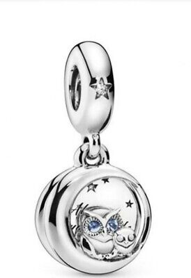 £5.99 • Buy Sterling Silver Always By Your Side Owl Dangle Charm S925 . L083