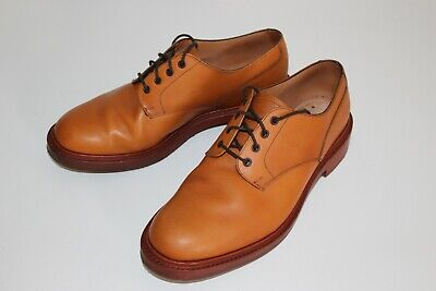 £99.99 • Buy Sanders Derby Leather Shoes 9.5 Tan Goodyear Welt Made In England