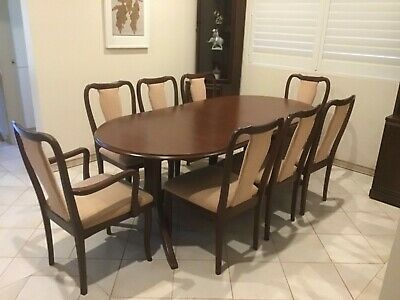 AU550 • Buy Parker Dining Room Extendable Table Plus 8 Chairs