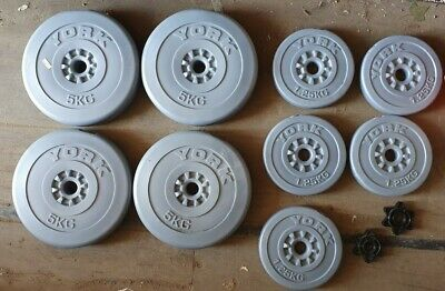 £33 • Buy York Vinyl Weights 4x 5KG & 5x 1.25KG - Barbell Weight Collection Spalding Area